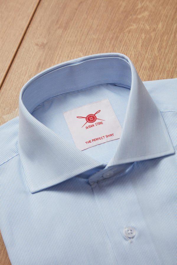 Camisa raya fina azul