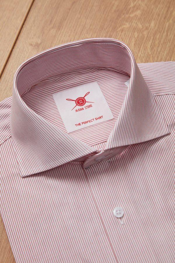 Camisa raya fina burdeos