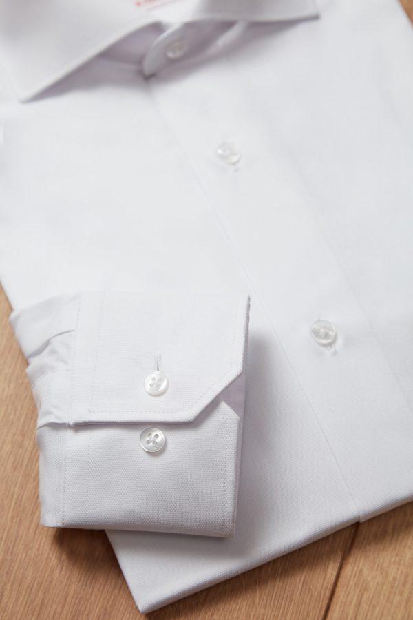 Camisa ojo de perdiz blanca