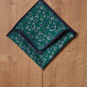 Pañuelo motivo verde y azul