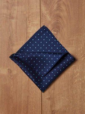 Pañuelo azul topos azules