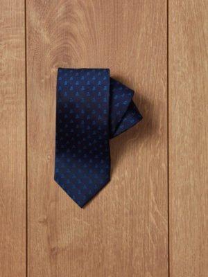 corbata azul calavera azul