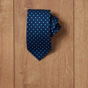 Corbata azul topos azul cielo