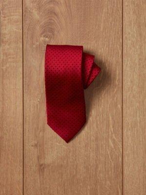 Corbata roja topos azul oscuro
