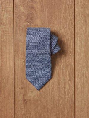 Corbata azul punto blanco