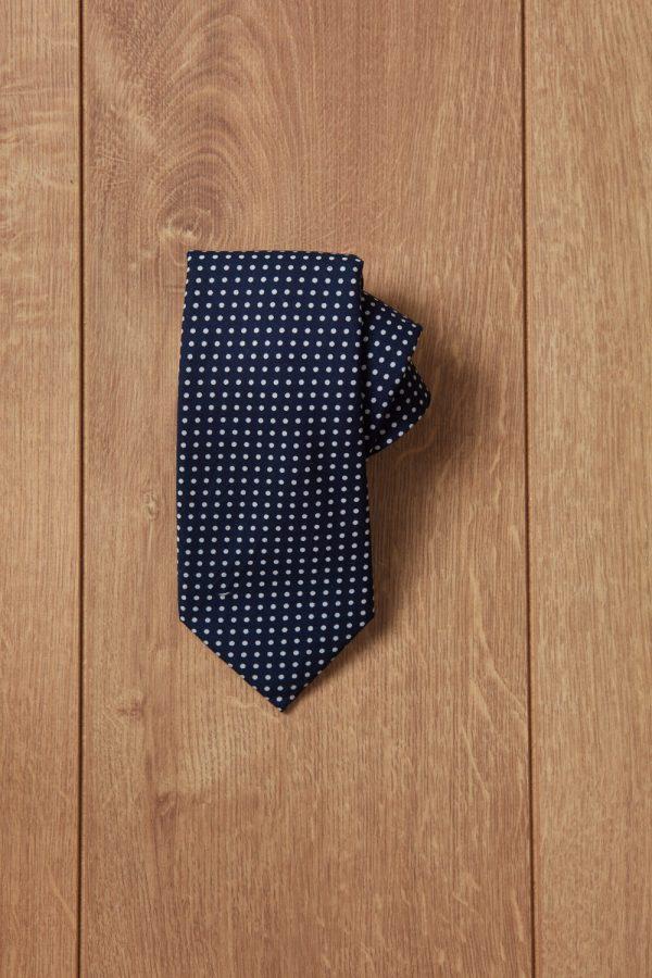Corbata negra punto blanco