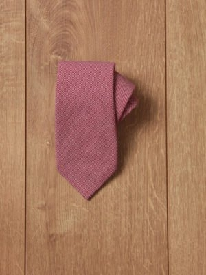 Corbata roja puntito blanco