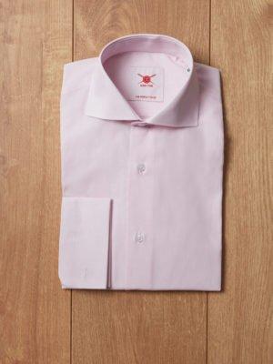 Camisa raya fina rosa
