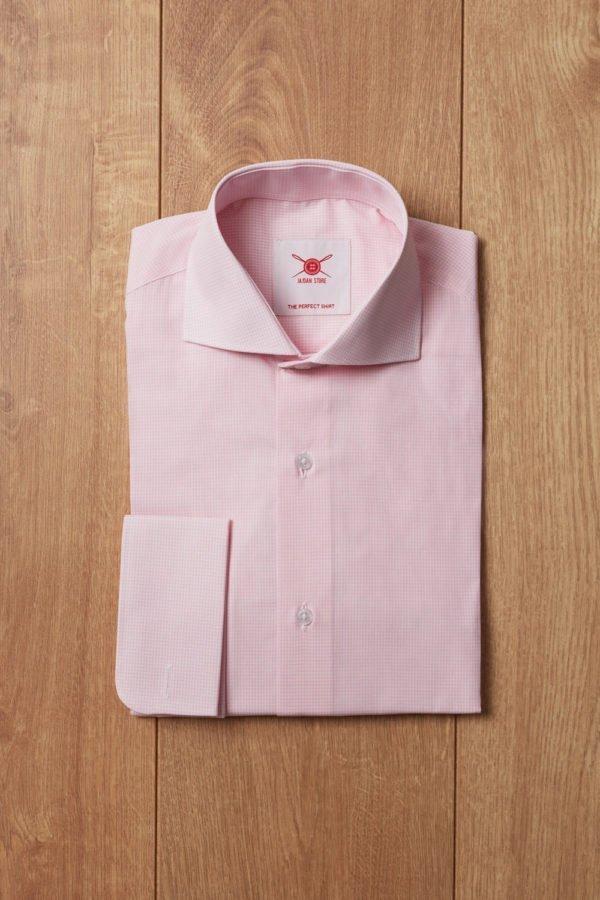 Camisa cuadro vichi rosa
