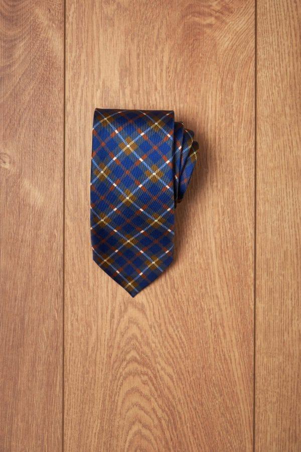 Corbata azul cuadro