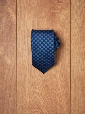Corbata azul floral azul