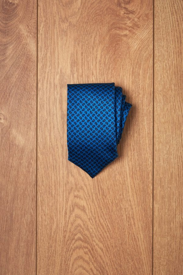 Corbata azul mini amebas