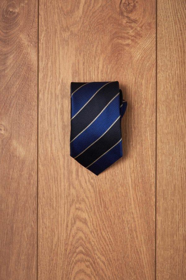 Corbata college marino azul