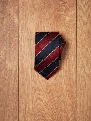 Corbata college marino y burdeos