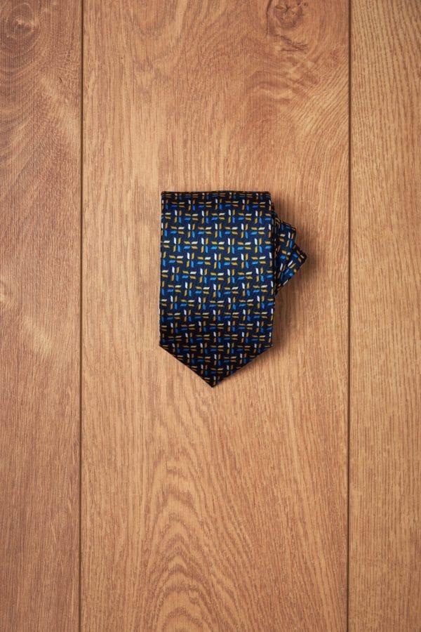 Corbata marino espiga amarilla azul