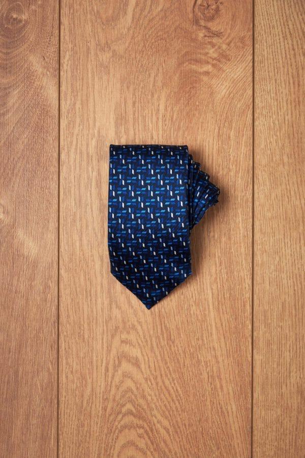 Corbata marino espiga tonos azules