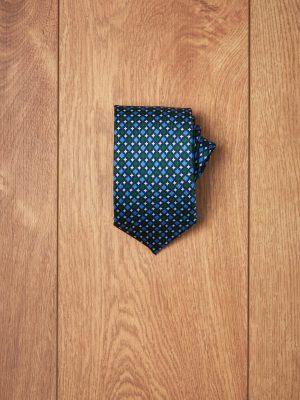 Corbata marino secuencia azul y verde