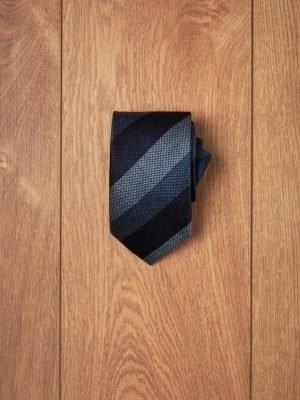 Corbata raya tricolor azules