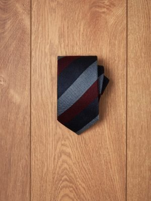 Corbata raya tricolor budeos azules