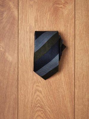 Corbata raya tricolor verde azules
