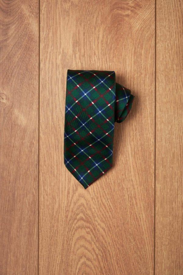 Corbata verde cuadro