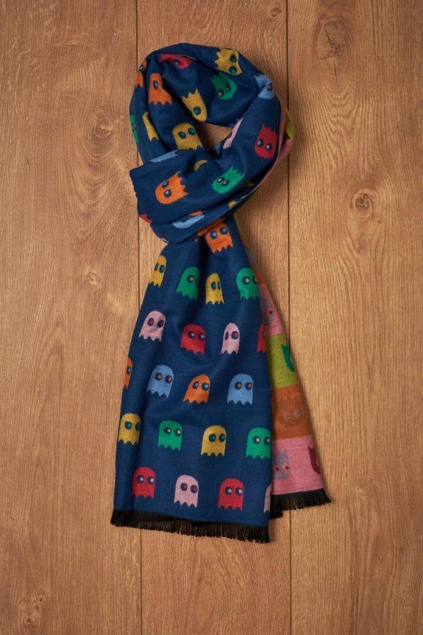 Bufanda azul fantasmas Pac-Man
