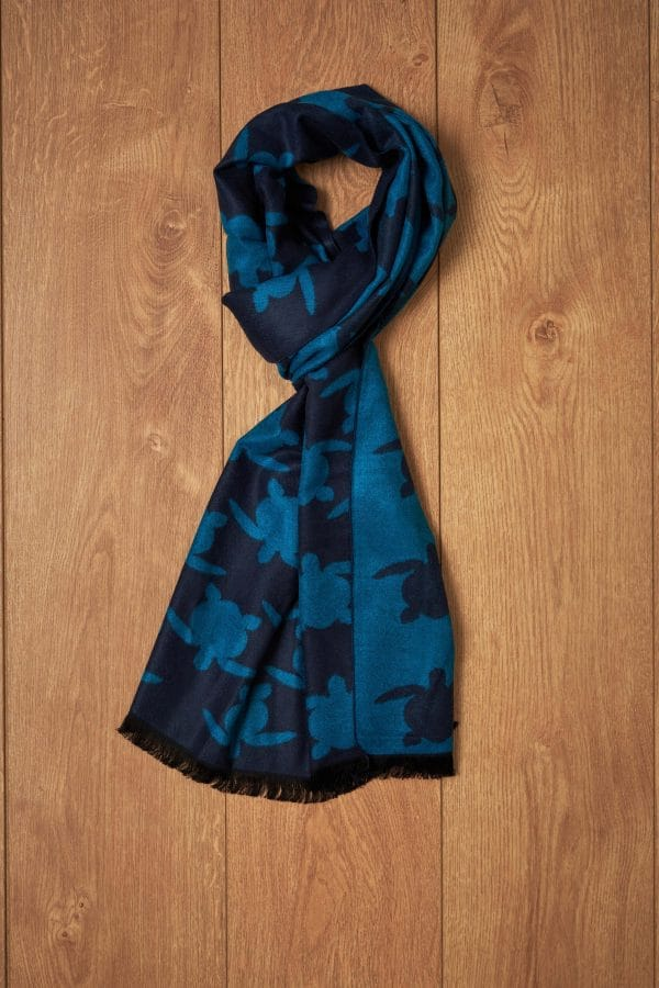 Bufanda marino azul tortugas