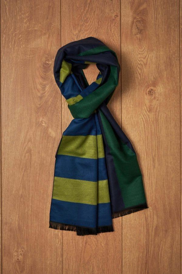 Bufanda rayas verdes