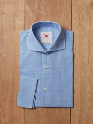 Camisa cuadro francés azul