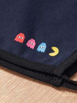 Mascarilla de Tela Comecocos Pacman Azul 1