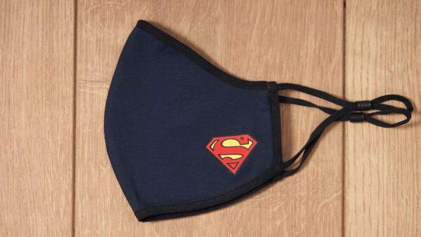 Mascarilla de Tela Superman Azul 0