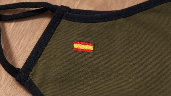 Mascarilla de Tela Verde, Bandera de España Verde 1
