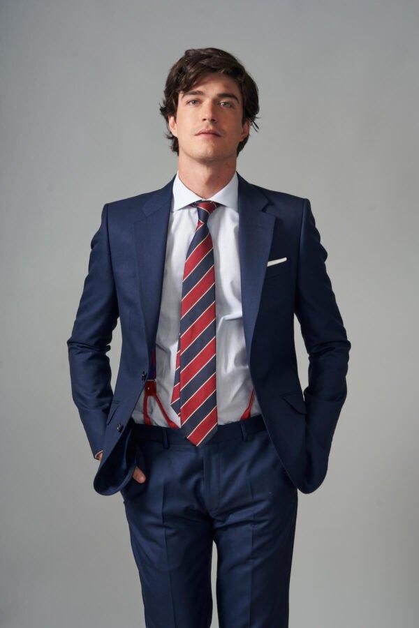 traje basic fil a fil azul jajoan3696 Traje Fil a Fil Azul