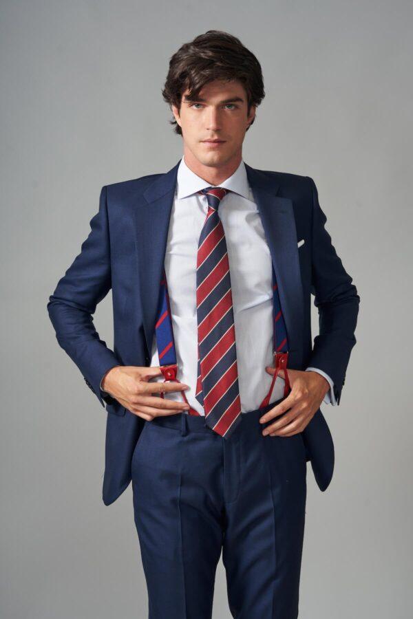 traje basic fil a fil azul jajoan3708 Traje Fil a Fil Azul