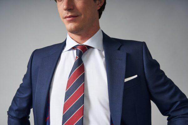 traje basic fil a fil azul jajoan3712 Traje Fil a Fil Azul